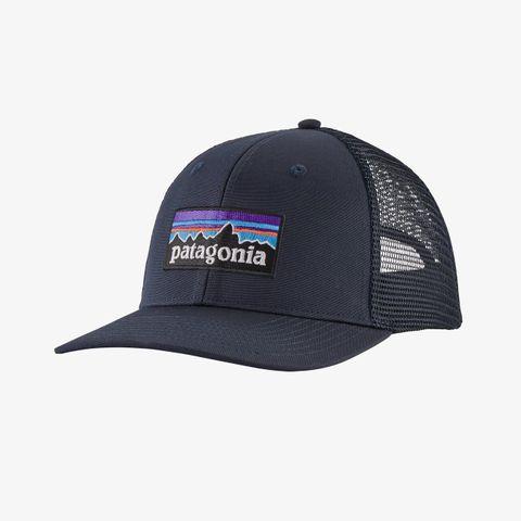 Patagonia P-6 Logo Trucker Hat - Navy Blue