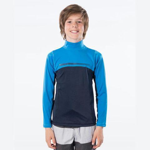 Peak Boys Long Sleeve UV Tee - Blue