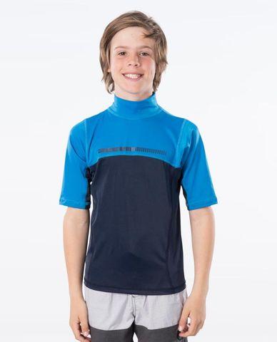Peak Boys Short Sleeve UV Tee - Blue