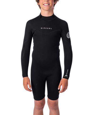 Rip Curl Boys Dawn Patrol Long Sleeve Spring Suit - Black