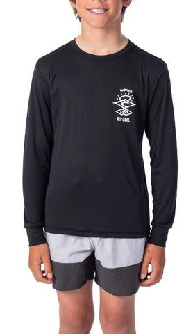 Rip Curl Boys Search Logo Long Sleeve Uvt Rash Vest