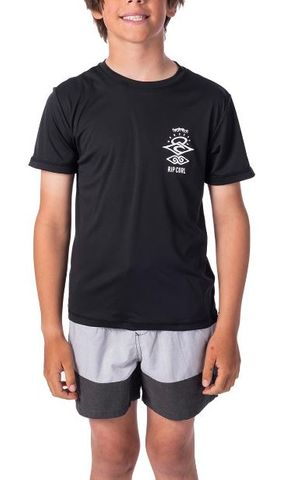 Rip Curl Boys Search Logo Short Sleeve Uvt Rash Vest