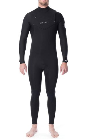 Rip Curl Dawn Patrol 3/2mm Chest Zip Steamer - Black