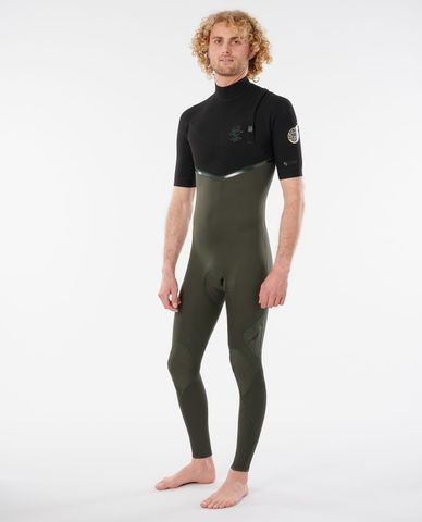 Rip Curl E-Bomb Short Sleeve Steamer Zip Free 2/2 - Olive