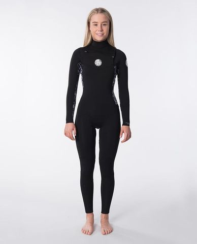 Rip Curl Women's Dawn Patrol 3/2 Chest Zip - Black/Grey