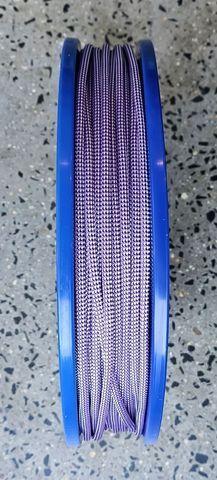 3mm D/BRAID DYNEEMA PURPLE/WHITE  /MTR