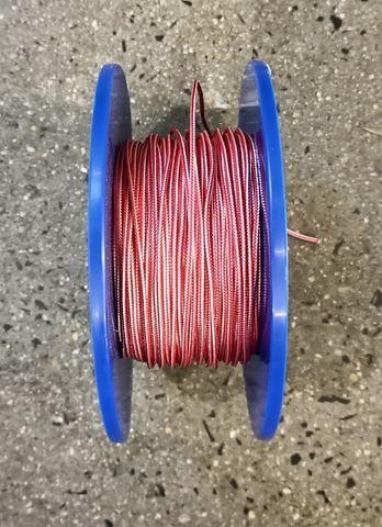 3mm D/BRAID DYNEEMA RED/WHITE  /MTR