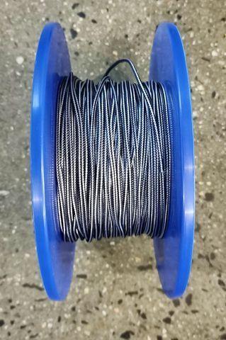 4mm D/BRAID DYNEEMA BLUE/WHITE  /MTR