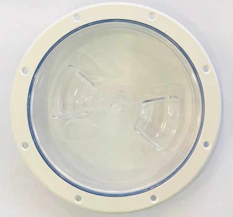 """6"""" WHITE/CLEAR LID"""