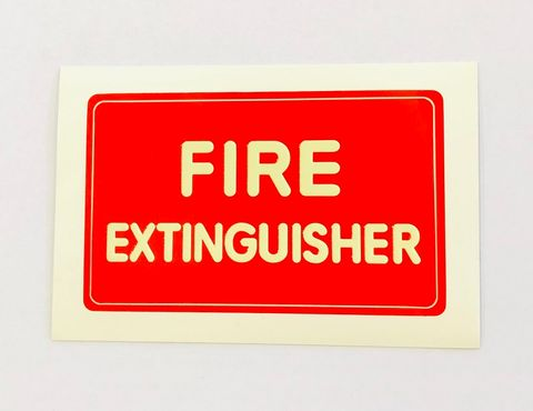 STICKER FIRE EXTINGUISHER SMALL