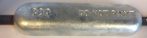 ANODE HULL RCTANGULAR W/STRAP 6KG