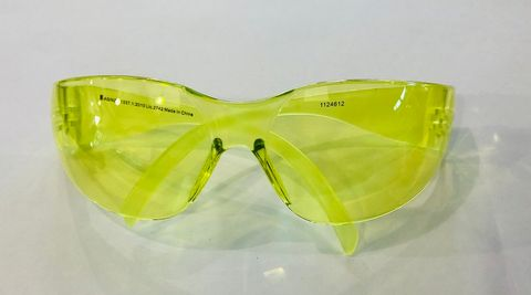 AMBER SAFETY GLASSES (FRONTIER VISIONX)
