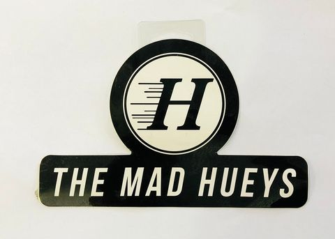MAD HUEYS NEW LOGO STICKER BLK