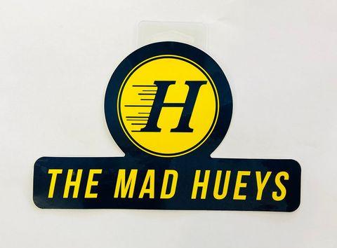 MAD HUEYS NEW LOGO STICKER NAVY