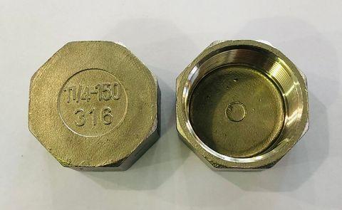 """HEX CAP 316 S/S 1 1/2"""""""