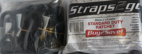 RATCHET STRAPS 25MM X 1.5MTR (IMPORT)
