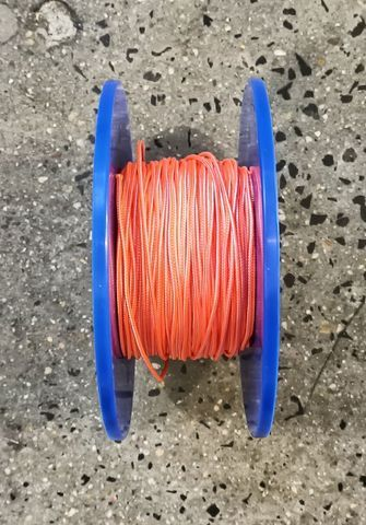 3mm D/BRAID DYNEEMA ORANGE/WHITE  /MTR
