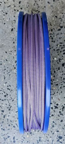 1.7mm D/BRAID DYNEEMA PURPLE/WHITE  /MTR
