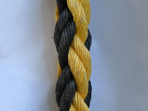 40MM PP DAN 8 STRAND BLACK & YELLOW