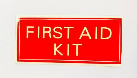 STICKER FIRST AID KIT