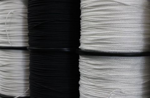 4MM POLYESTER BRAID - WHITE 100MTRS