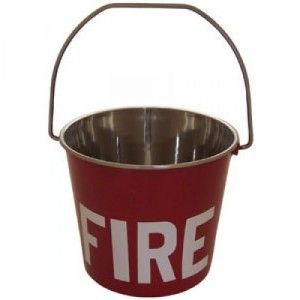 FIRE BUCKET STAINLESS STEEL 12LTR