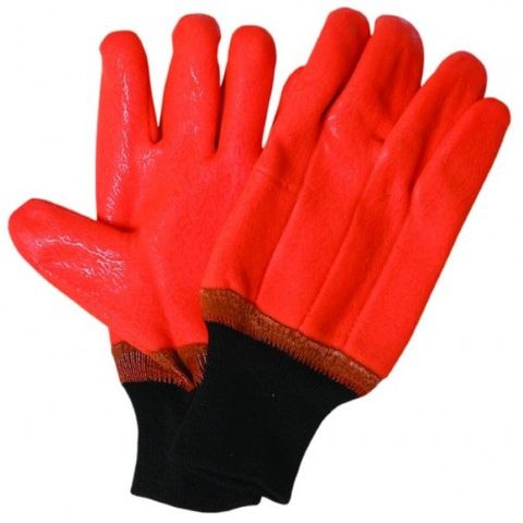 FREEZER GLOVES PVC (BRIGHT ORANGE)