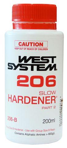 H206 SLOW HARDNER ONLY 200ML