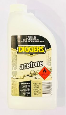 DIGGERS ACETONE 1LTR
