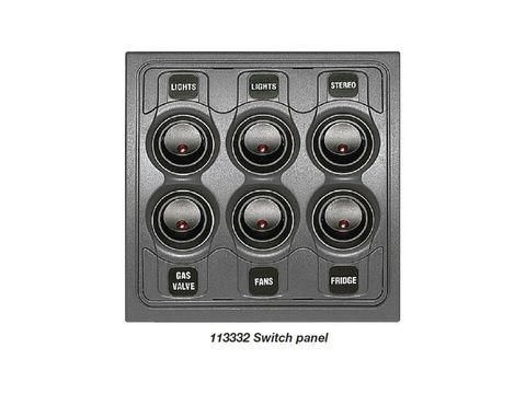 BEP Contour 1000 Switch Panel, 6 way