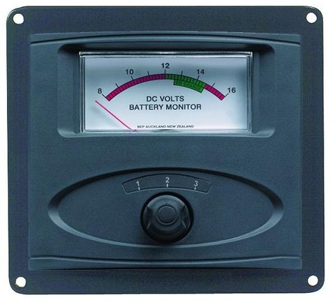 BEP Analogue Voltmeter Panel 12V