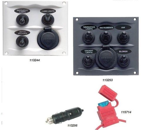 BEP Splash Proof Switch Fuse Panel with Power Socket
