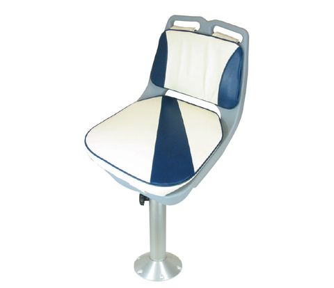Bay Seat - Pedestal white/navy