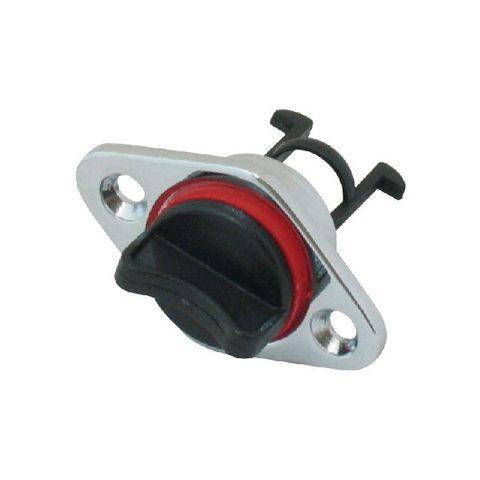 Drain Plug - Chrome Brass 25mm Cutout