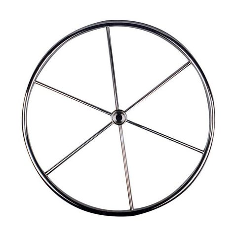 Yacht Wheel - Six Spoke Stainless Steel