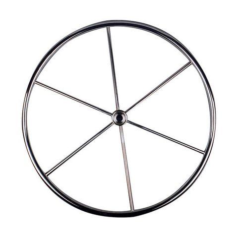 Yacht Wheel - Six Spoke Stainless Steel