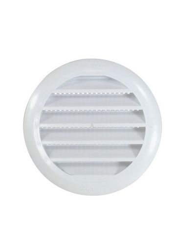 Louvre Vents - Plastic Round with Screen