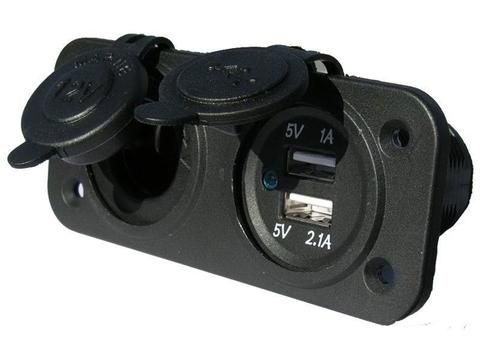 BLA USB & Power Sockets - Dual Flush Mnt