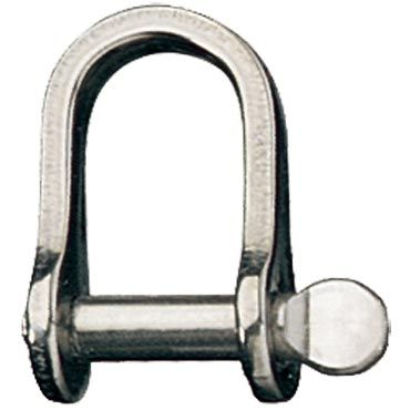 Shackle, Ronstan D, Pin 1/4""
