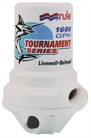 Livewell Pump Rule Tournament 1600 GPH