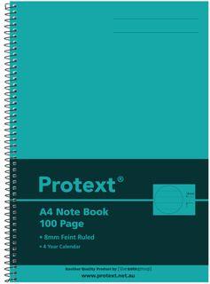 Protext A4 100pg Note Book - Aqua