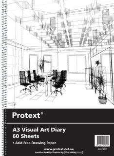 Protext A3 120pg 110gsm Clear PP Visual Art Diary