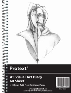 Protext A5 120pg 110gsm Clear PP Visual Art Diary