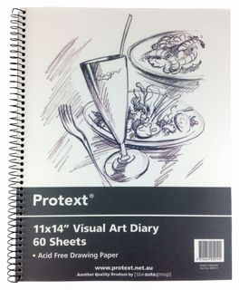 Protext 356x280mm 120pg 110gsm Clear PP Visual Art Diary