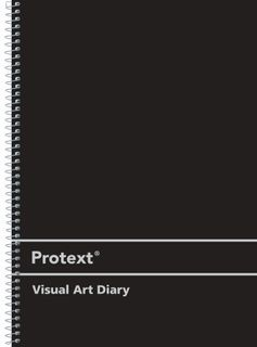 Protext A4 120pg 110gsm Black PP Visual Art Diary