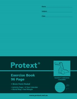 Protext 9*7 96pg 8mm Ruled Exercise Book
