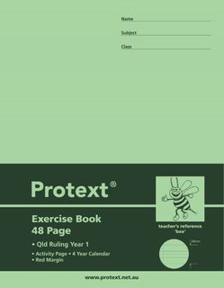 Protext 9*7 PP 48pg Qld Yr1 Exercise Book