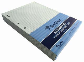 Writer A4 50lf Bond Ruled Notepad + 7 holes