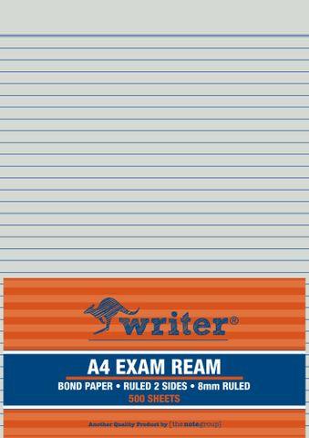 Writer A4 Bond 500 Sheet Exam Ream