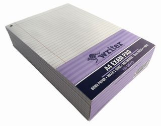Writer A4 100 Sheet Exam Notepad + 1 Hole